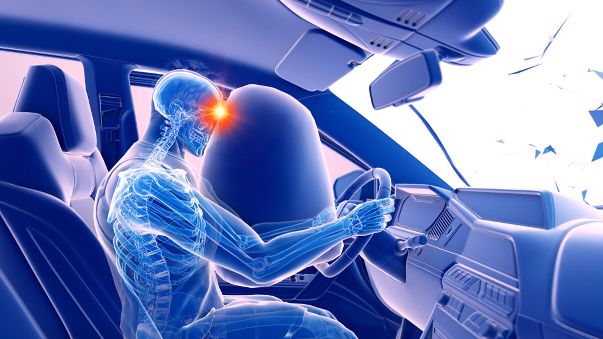 3d Rendered Illustration Two Colliding Car-Henry Chiropractic - 1602 N 9th Ave Pensacola, FL 32503 United States - (850) 435-7777